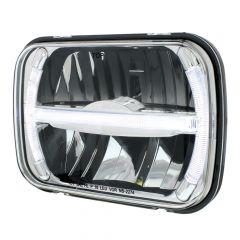 "5"" x 7"" LED Headlight with LED Position Bar"