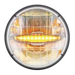 "7"" LED Headlight with LED Light Bar"