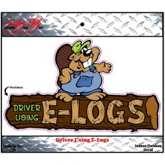 Driver Using E-Logs Decal