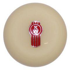 Ivory Kenworth Emblem Shifter Knob