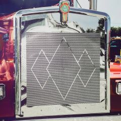 Kenworth W900L Triple Diamond Punched Grill Insert