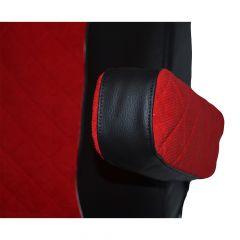 Black/Red Armrest Covers for Freightliner Cascadia