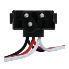 3 Prong Right Angle Plug Continuous Wire Harness