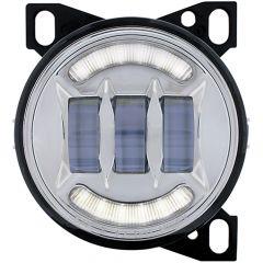 """4-1/4"""" Chrome LED Fog Light with LED Light Bar"""