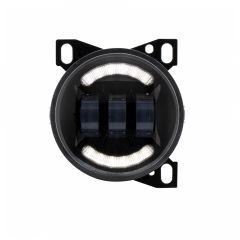 """4-1/4"""" Black LED Fog Light with LED Light Bar"""