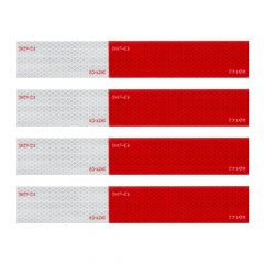 Premium Red/White Reflective Conspicuity Tape Set