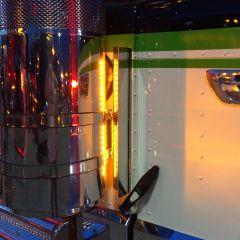 "Backlit Front Air Cleaner Light Bars for Peterbilt 13"" Breather"