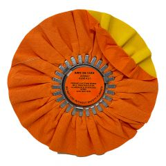 "Zephyr 10"" Orange Kwik Kut Buffing Wheel"