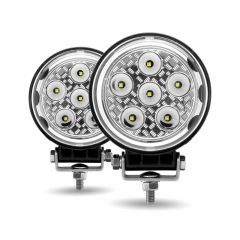 "4-1/2"" Round 9 LED Work Lights with Side Lights"