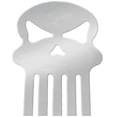 Chrome Large Skull Cut Out Stud Mount