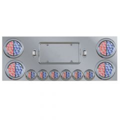 Stainless Steel Dual Revolution LED Center Panel with 10 Lights