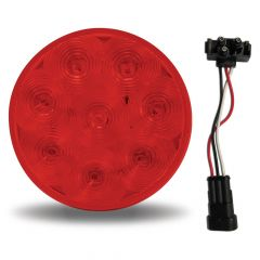 """4"""" Red 8 LED S/T/T Light with Super Seal Adapter"""