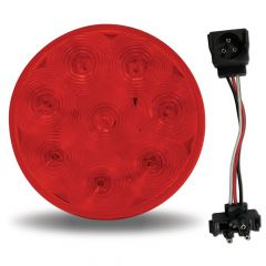 """4"""" Red 8 LED S/T/T Light with Lock Connector"""