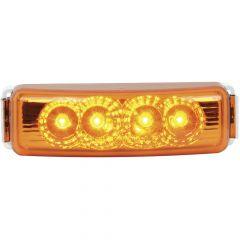 "4"" 4 LED Spyder Light with Chrome Rim"