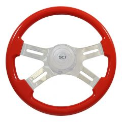 "16"" Classic Painted Wood Steering Wheel"