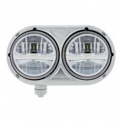 Peterbilt 359 Silver Dual Bulb Headlight