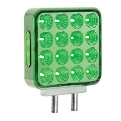 Dual Revolution Turn Signal/Marker to Green Auxiliary LED