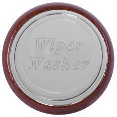 Wood Wiper Washer Dash Knob