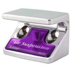 Air Suspension Switch Guard with Purple Sticker