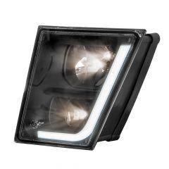 Volvo VN VNL Black Fog Light with LED Position Light