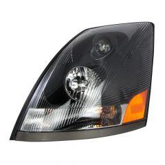 Volvo VN VNL Black Projector Headlight, OE Style