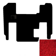 1-Piece Premium Floor Mat for Freightliner Classic/FLD in Red