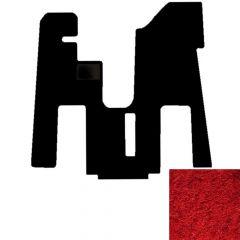 1-Piece Carpet Floor Mat for Peterbilt 379/386/388/389 in Red