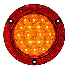 """4"""" 18 LED Flange Mount Light with Red Reflector Ring"""
