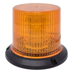 12-Volt Amber LED Beacon Light with Permanent Mount