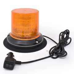 12-Volt Amber LED Beacon Light with Magnet Mount