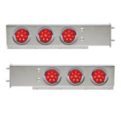 """Stainless Spring-Loaded Rear Light Bars with LED, 3-3/4"""" Bolt Spacing"""