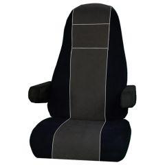 Peterbilt Black & Gray Corduroy Seat Cover