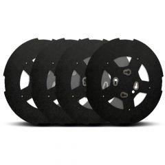 Twist & Lock Aero Wheel Covers, Stealth with Window for Dual Wheel Axles 4PK