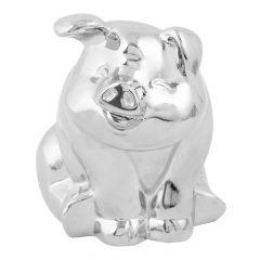 Chrome Smiling Pig Hood Ornament