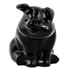 Black Smiling Pig Hood Ornament