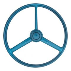 "20"" 3-Spoke Retro Blue Sparkles Steering Wheel"