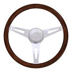 "3 Spoke Dart Mahogany Steering Wheel 16"""