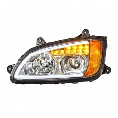 Kenworth T660 Chrome Headlight with LED Position Light and Turn Signal