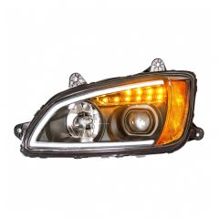 Kenworth T660 Blackout Headlight with LED Position Light and Turn Signal