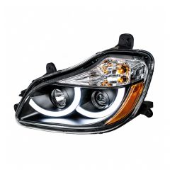 Kenworth T680 Blackout Headlight with LED Position Light