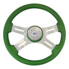 """16"""" Green Steering Wheel"""