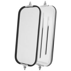 "7"" x 16"" SS West Coast Ribbed Back Mirror"