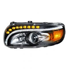 Peterbilt Blackout Headlight with LED Position Light and Turn Signal