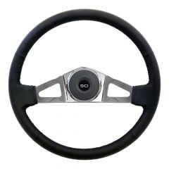 "18"" Manchester Leather Steering Wheel"