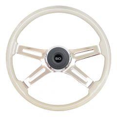 "18"" Saint Ivory Painted Steering Wheel"