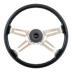 "18"" Prestige Black Painted Steering Wheel"
