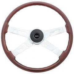 """20"""" Fury Mahogany Steering Wheel"""