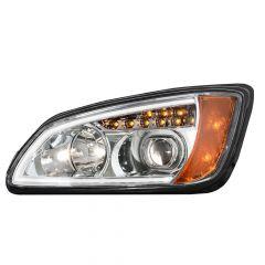 Kenworth T660 Chrome HID Headlight with LED Turn Signal