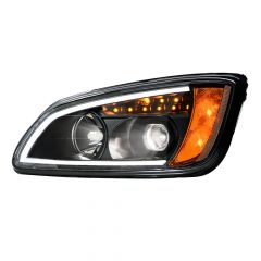 Kenworth T660 Blackout HID Headlight with LED Turn Signal
