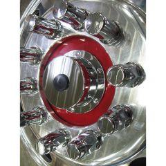 Chrome Billet Aluminum Oil Cap Covers for Bud Wheels